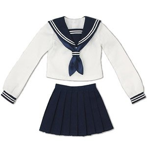 AZO2 Sailor Suit Set (White x Navy) (Fashion Doll)