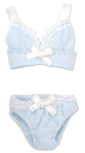 Ribbon Brassiere & Shorts Set (Light Blue) (Fashion Doll)