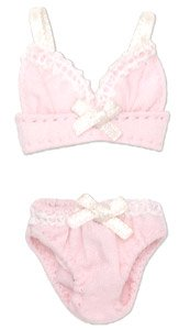 Ribbon Brassiere & Shorts Set (Pink) (Fashion Doll)