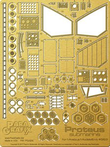 Detail Up Photo-Etched Parts Set for The Proteus Submarine from Fantastic Voyage (Plastic model)
