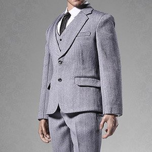 POP Toys 1/6 Mens Suits Set Gray (Fashion Doll)
