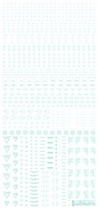 1/100 Pastel Mint RB02 Caution Decal (1 Sheet) (Material)
