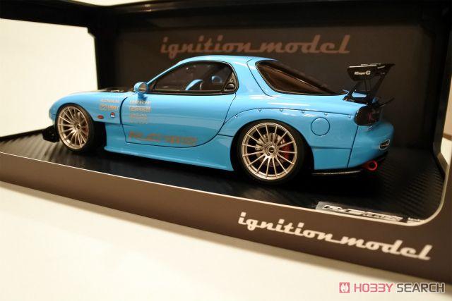 MAZDA RX-7 (FD3S) RE Amemiya Light Blue (ミニカー)