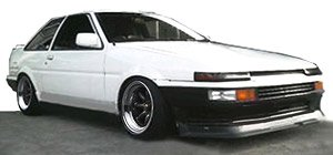Toyota Sprinter Trueno (AE86) 2Door GT Apex White (ミニカー)