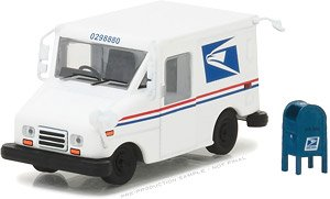 United States Postal Service (USPS) Long-Life Postal Delivery Vehicle (LLV) with Mailbox (ミニカー)