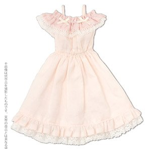PNS Off Shoulder Frill One-piece (Light Pink) (Fashion Doll)