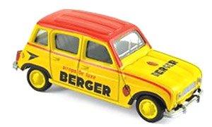 ルノー 4 1964 BERGER `Cycliste - Yellow Red Black` (ミニカー)
