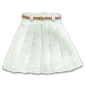 PNM Leather Belt Pleated Skirts (Mint) (Fashion Doll)