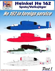 [1/48] He 162 [in Foreign Service Part 1] (Decal