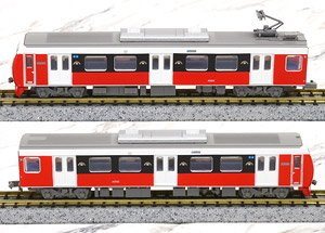 The Railway Collection Shizuoka Railway Type A3000 (Passion Red) Two Car Set B (2-Car Set) (Model Train)
