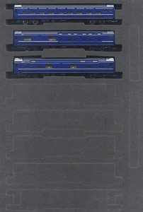 J.R. Limited Express Sleeping Cars Series 24 Type 25 `Hokutosei` (East Japan Railway) Additional Set (Add-On 3-Car Set) (Model Train)