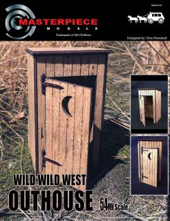 54mm (1/32) Wild West Outhouse (Laser Cut Wood and Resin