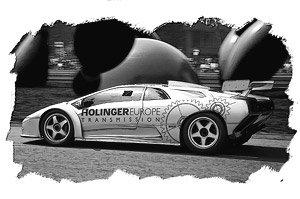 Lamborghini Diablo Gtr Reiter Engineering 1999 Silver Dark Gray