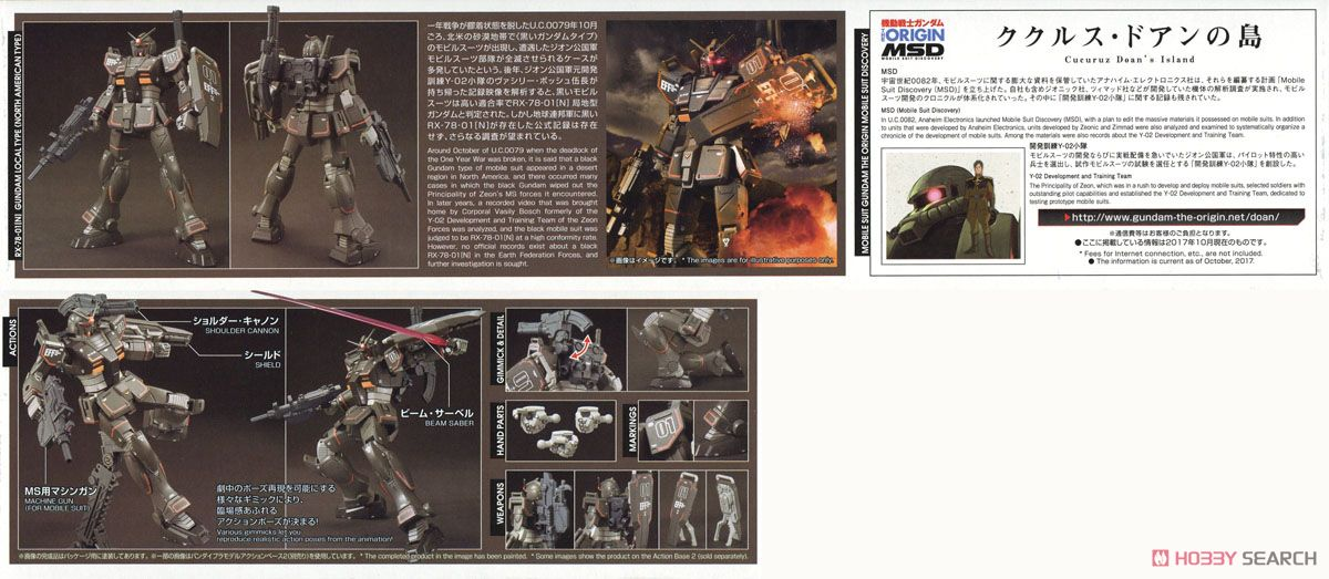 Gundam Local Type (North American Front) (HG) (Gundam Model Kits) Item picture11