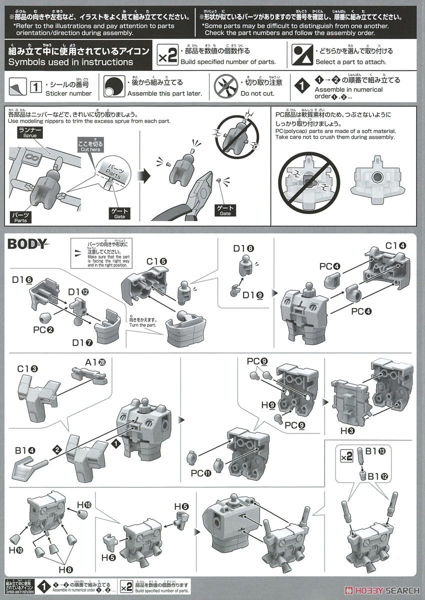 Gundam Local Type (North American Front) (HG) (Gundam Model Kits) Assembly guide1