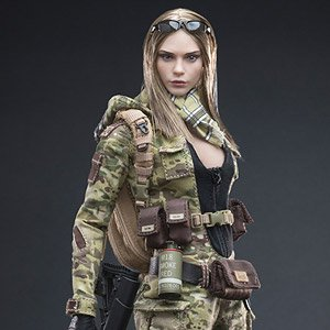 very cool 1 6 action figure mc camouflage woman soldier villa