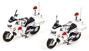 ホンダ VFR800P 2002-2008 神奈川県警察交通取締用自動二輪車 (2台セット) 第一交通機動隊 / 第二交通機動隊 (ミニカー)