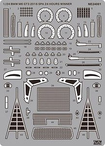 1/24 Racing Series BMW M6 GT3 2016 Total 24 Hours of Spa Winner Detail Up Parts (Accessory)