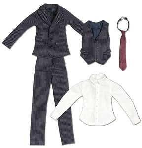PNXS Three Pieces Suits Set (Navy) (Fashion Doll)