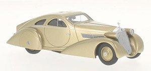 ロールスロイス ファントム I ヨンケーレ クーペ エアロダイナミック クーペ 1935 ゴールド 右ハンドル (ミニカー)