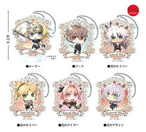 Fate/Apocrypha とじコレ アクリルキーチェーン 6個セット (キャラクターグッズ)