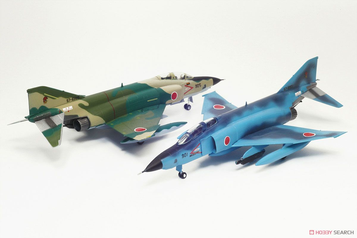 JASDF Reconnaissance Aircraft RF-4E Phantom II `Sea Camouflage/Normal Camouflage` (Set of 2) (Plastic model) Item picture1