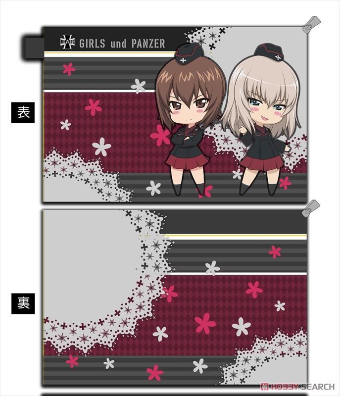 Girls und Panzer der Film Water-Repellent Pouch Kuromorimine Girls High School Deformed Chara (Anime Toy) Item picture1
