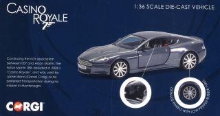 James Bond Aston Martin Dbs Casino Royale Diecast Car