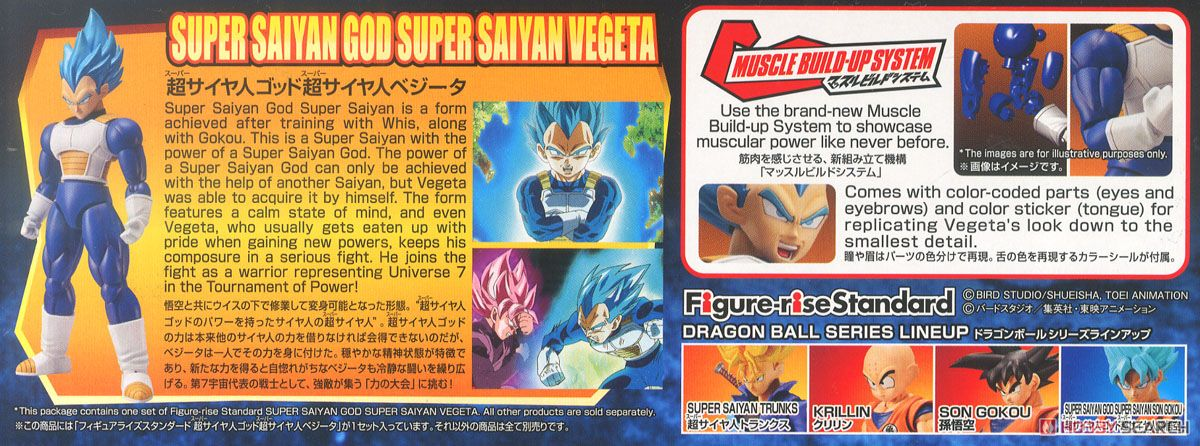 Figure-rise Standard Super Saiyan God Super Saiyan Vegeta (Plastic model) Item picture14