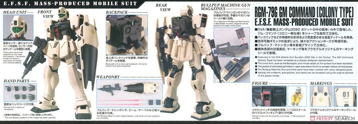 GM Command (Colony Type) (MG) (Gundam Model Kits) Item picture11