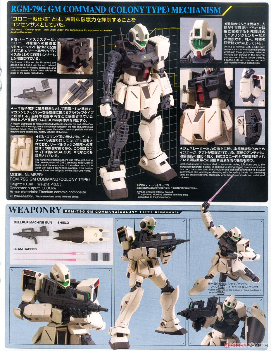 GM Command (Colony Type) (MG) (Gundam Model Kits) About item3