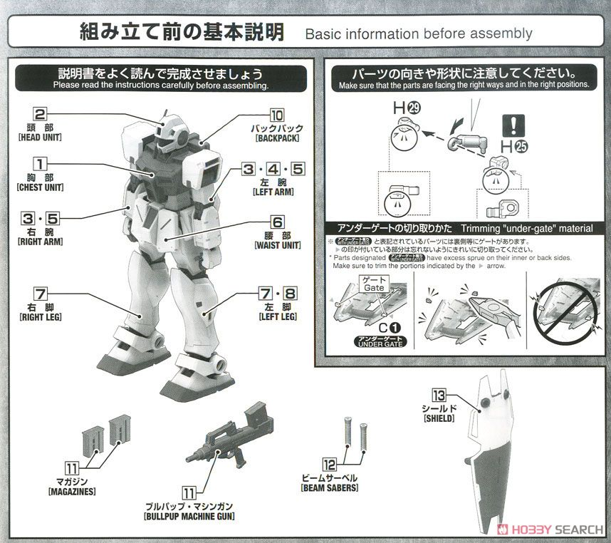 GM Command (Colony Type) (MG) (Gundam Model Kits) Assembly guide1