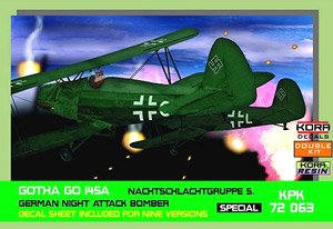 Gotha Go145A Nachtschtgruppe Service German Night Attack Bomber Set Of 2 Plastic Model