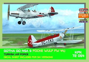 Gotha Go145A Focke Wulf Fw44J Turkish Air Force 2 Types 1 Piece Each