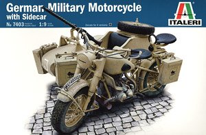 German Military Motorcycle with side car (Plastic model)