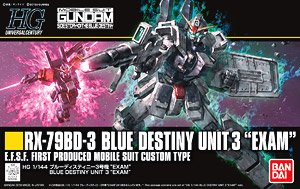 Blue Destiny Unit 3 `EXAM` (HGUC) (Gundam Model Kits)