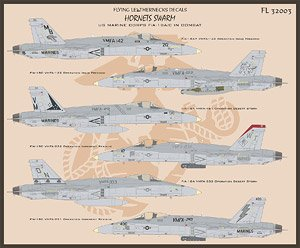 US Marine Corps F/A-18A/C in Combat Part.1 (Decal)