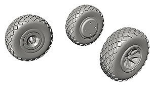 P-40 Wheels Diamond Tread (for Special Hobby) (Plastic model)