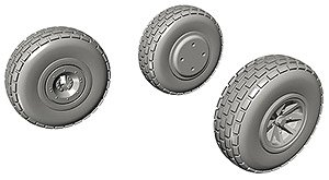 P-40 Wheels Block Tread (for Special Hobby) (Plastic model)