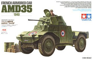 French Armored Car AMD35 `1940` (Plastic model)