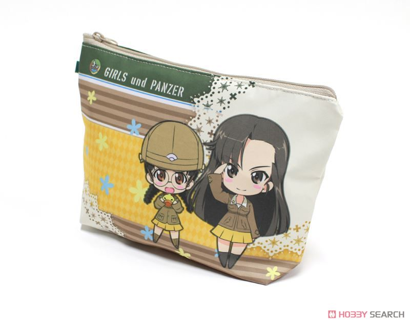 Girls und Panzer das Finale Water-Repellent Pouch Chihatan Academy Deformed Chara (Anime Toy) Item picture1