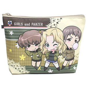 Girls und Panzer das Finale Water-Repellent Pouch Sanders University High School Deformed Chara (Anime Toy)