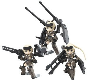 Desktop Army Frame Arms Girl KT-321f Gorai Series (Set of 3) (PVC Figure)