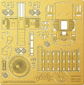 Photo-Etched Parts Set for Mobius 1/144 Space Odyssey Discovery (XD-1) Cockpit & Air Lock (Plastic model)