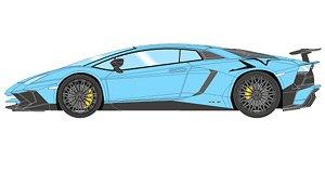 Lamborghini Aventador Lp750 4 Sv 2015 Baby Blue Large Black Sv Logo