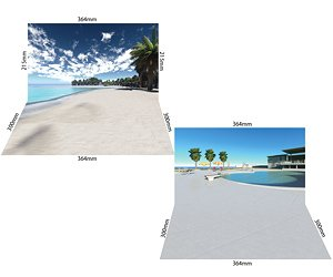 Diorama Sheet Mini EX [1/12 Pool/Beach Set A] (Fashion Doll)
