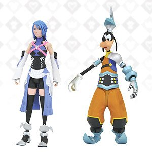 Kingdom Hearts Birth by Sleep - Action Figure: Kingdom Hearts Select - Series 2: Aqua & Goofy (Completed)