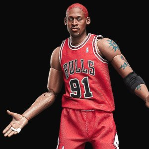 1//6 Scale Real Masterpiece NBA Collection Dennis Rodman Action Figure In Box
