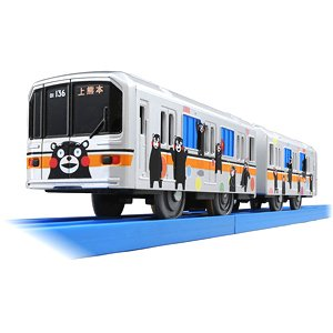 Loves Fun Train Series Kumamoto Electric Railway 01 Wrapping Train (Kumamon Ver.) (3-Car Set) (Plarail)
