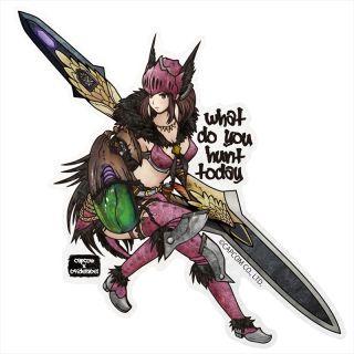 Capcom X B Side Label Sticker Monster Hunter World Janah Equipment Anime Toy Hobbysearch Anime Goods Store